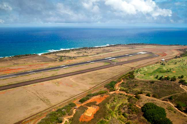 Lihue Airport is the primary domestic and international gateway of the island of Kauai, in Hawaii.