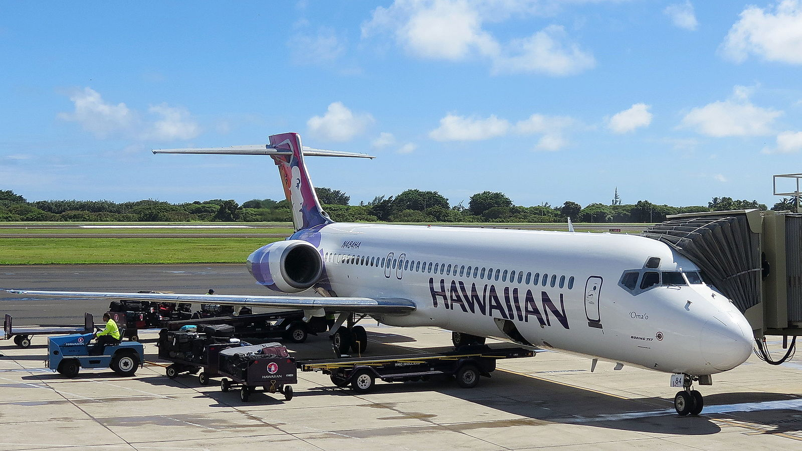 Lihue Airport is served for several airlines even it isn't the hub of any carrier.