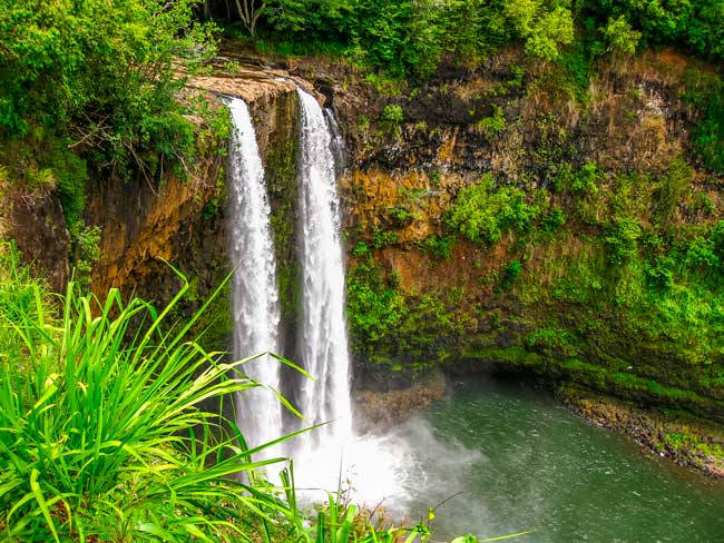 Kauai island it is known as the Garden Island due to its green and tropical environment.